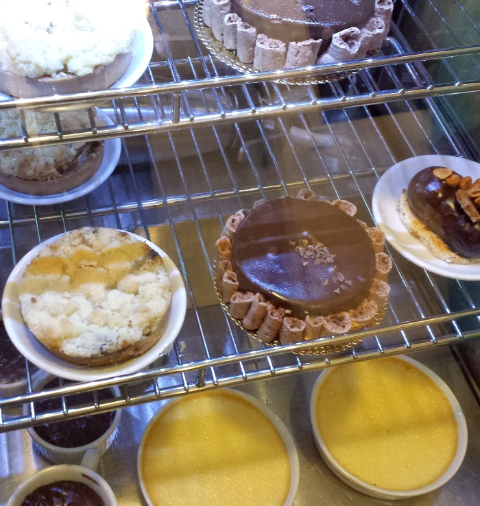 Boutique desserts at Rozalia Cafe in Bet Shean
