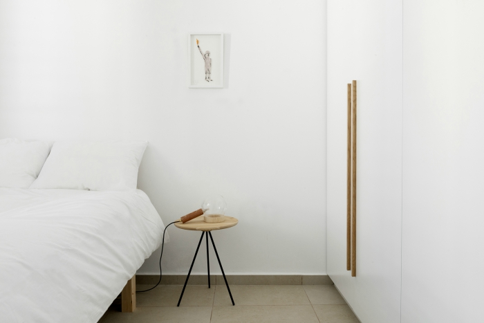 Scandinavian style minimalist bedroom