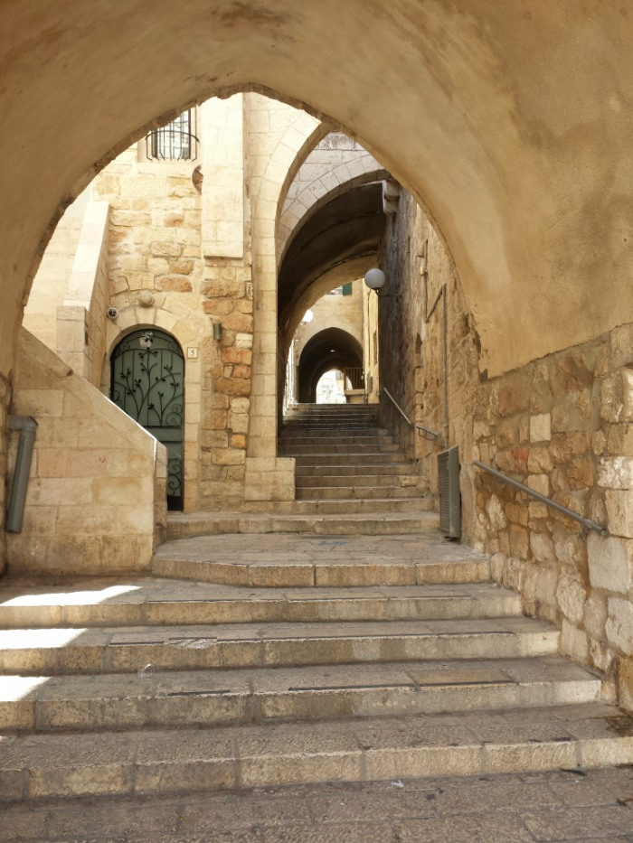 Stairs and arches in the Old City of Jerusalem