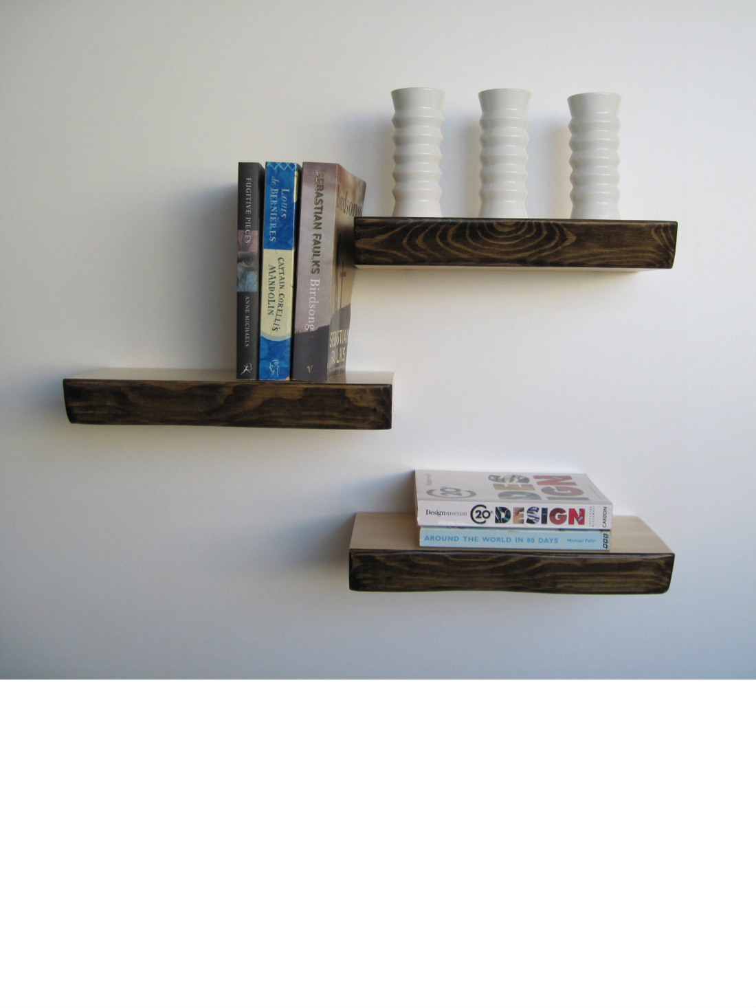 Bark Floating Shelves from brightblueliving.com