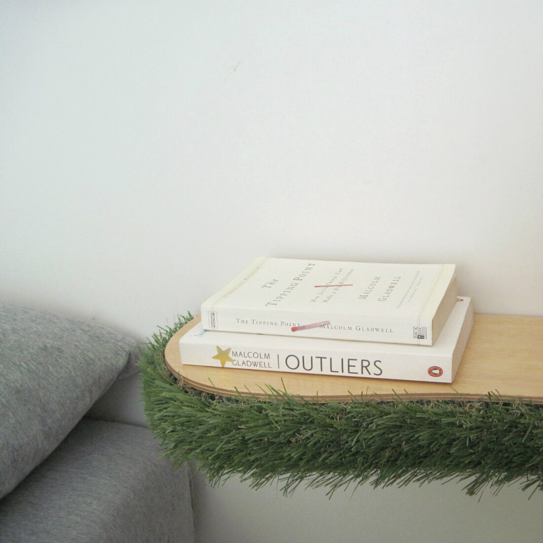 Grass Floating Shelf bedside table from brightblueliving.com