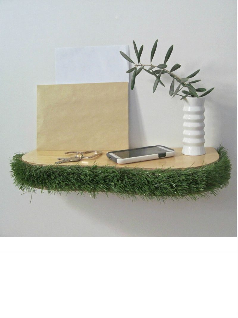 Grass Floating Shelf console table from brightblueliving.com