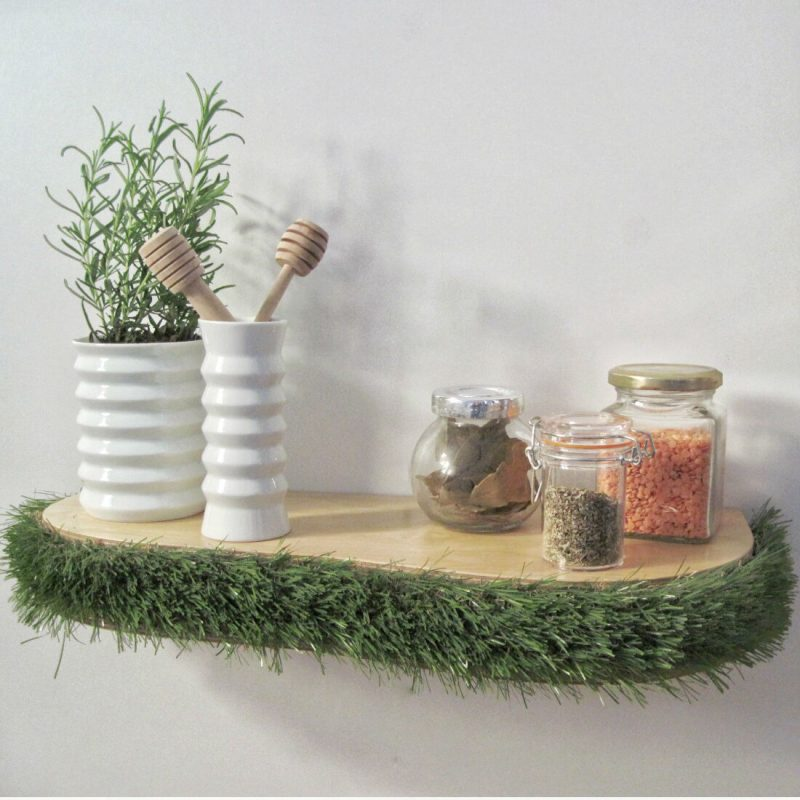 Grass Floating Shelf kitchen shelf from brightblueliving.com