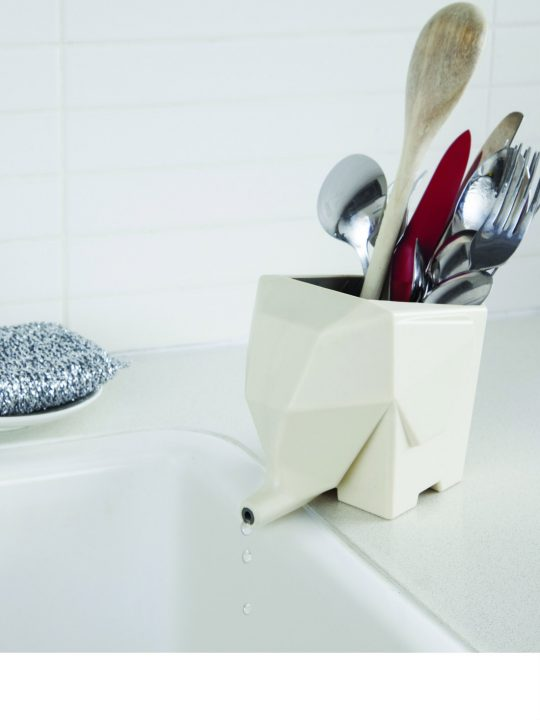Jumbo Cutlery Drainer White from brightblueliving.com