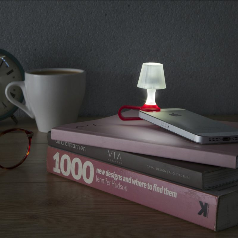 Luma Mobile Phone Night light in red from brightblueliving.com