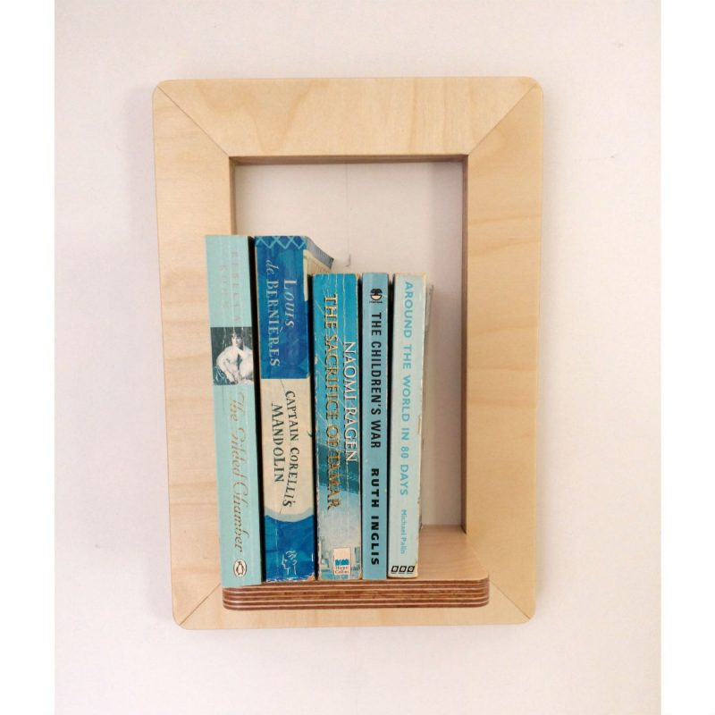 Marco Frame Shelf with books from brightblueliving.com