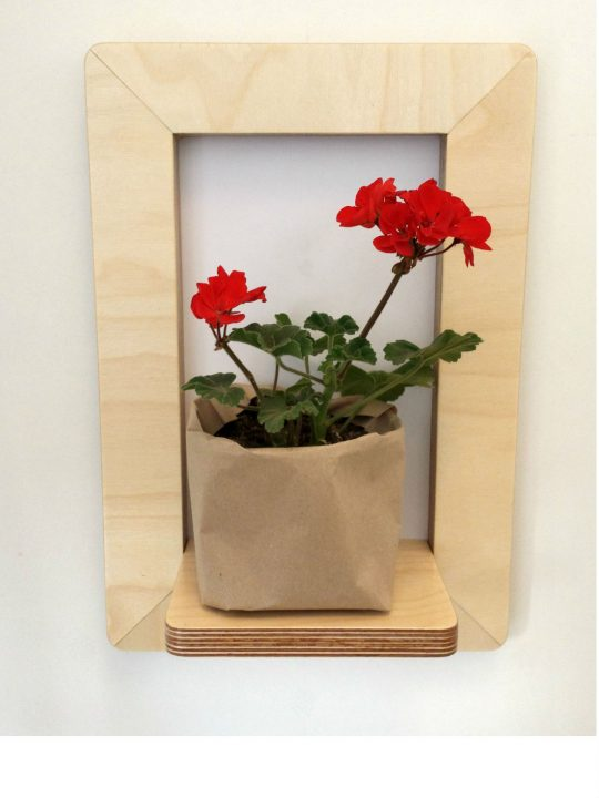 Marco Frame Shelf with geranium from brightblueliving.com