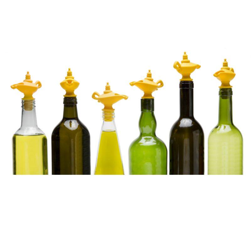 Oiladdin Oil Pourer Bottle Stopper by Peleg Design from brightblueliving.com