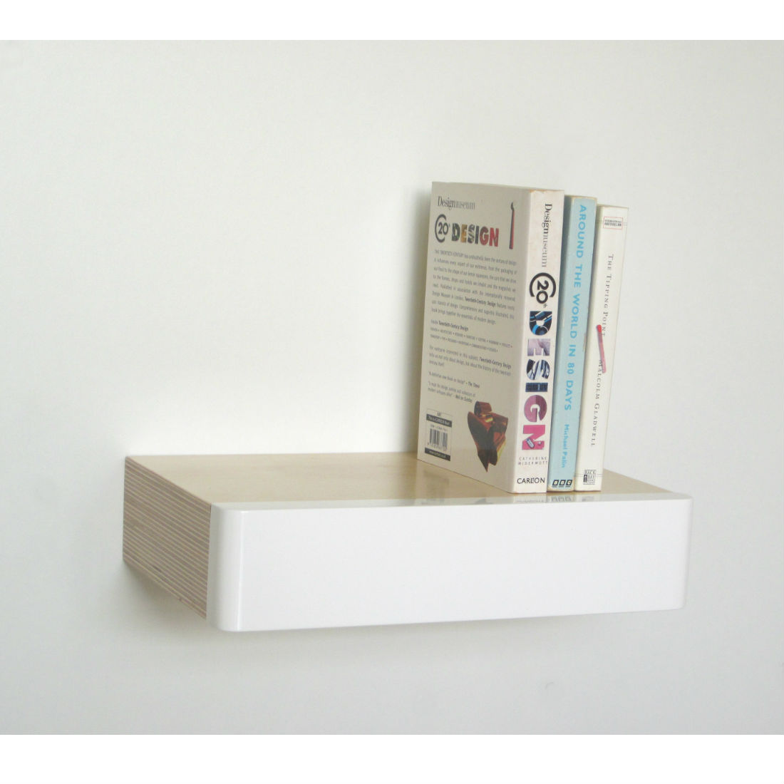 Pacco Floating Shelf Drawer as bookshelf from brightblueliving.com