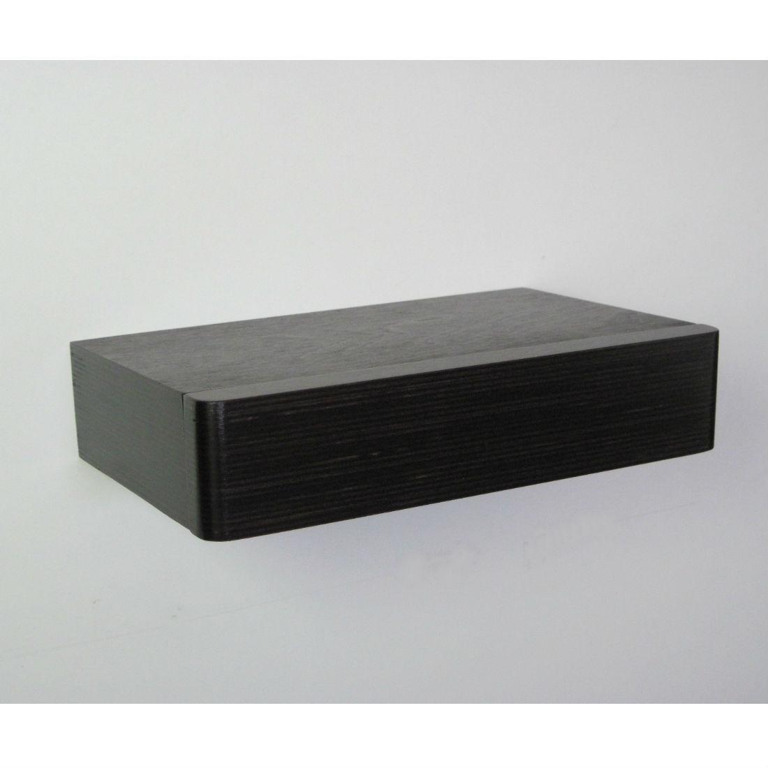 pacco floating shelf drawer walnut bright blue living. Black Bedroom Furniture Sets. Home Design Ideas