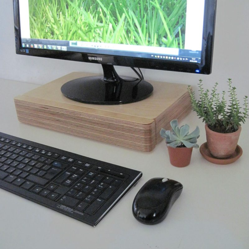 Pacco Monitor Stand and Drawer from Bright Blue Living