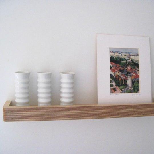 Picture Ledge Floating Shelf by Samuel Ansbacher for brightblueliving.com