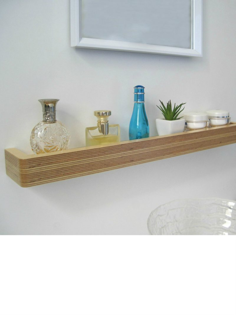 Slimline Floating Shelf as a bathroom shelf from brightblueliving.com