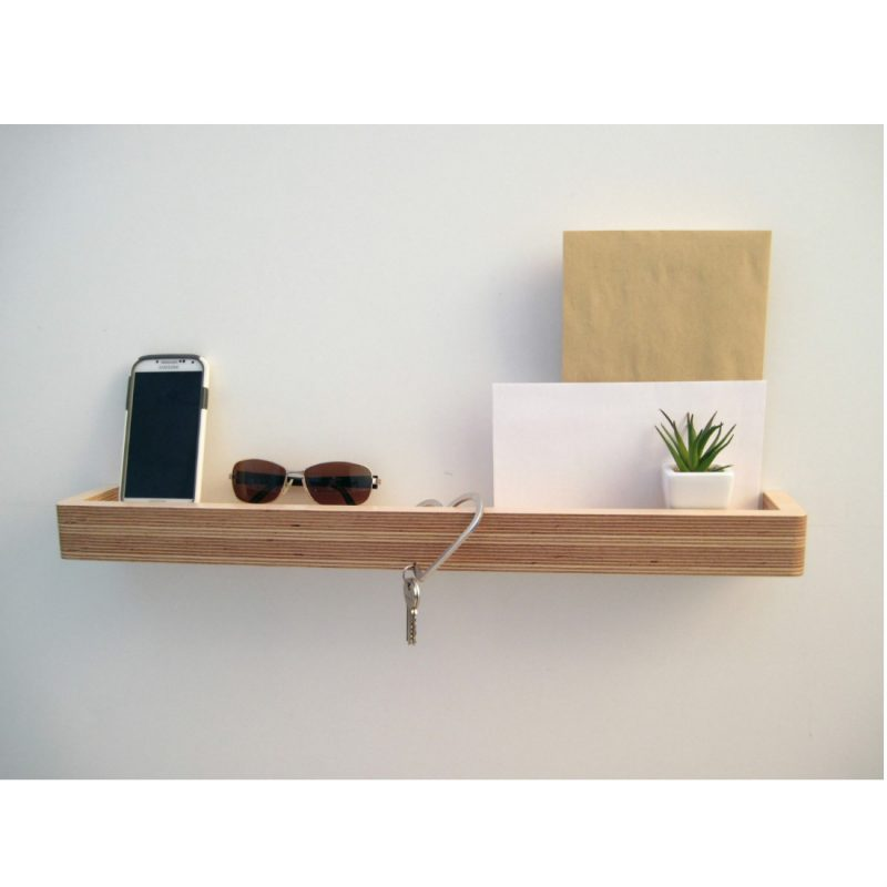 Slimline Floating Shelf landing strip from brightblueliving.com