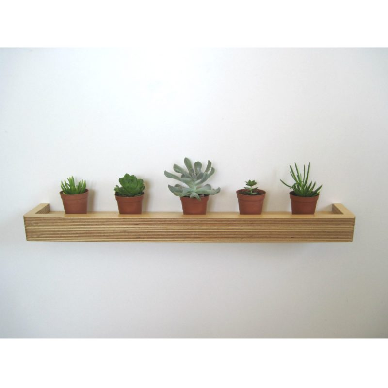 Slimline Floating Shelf plant shelf from brightblueliving.com
