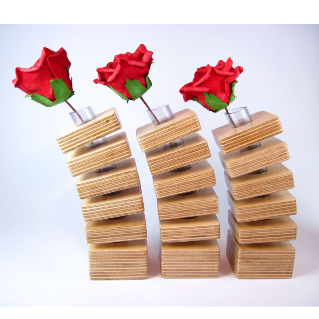 Wood Spring Vases from brightblueliving.com